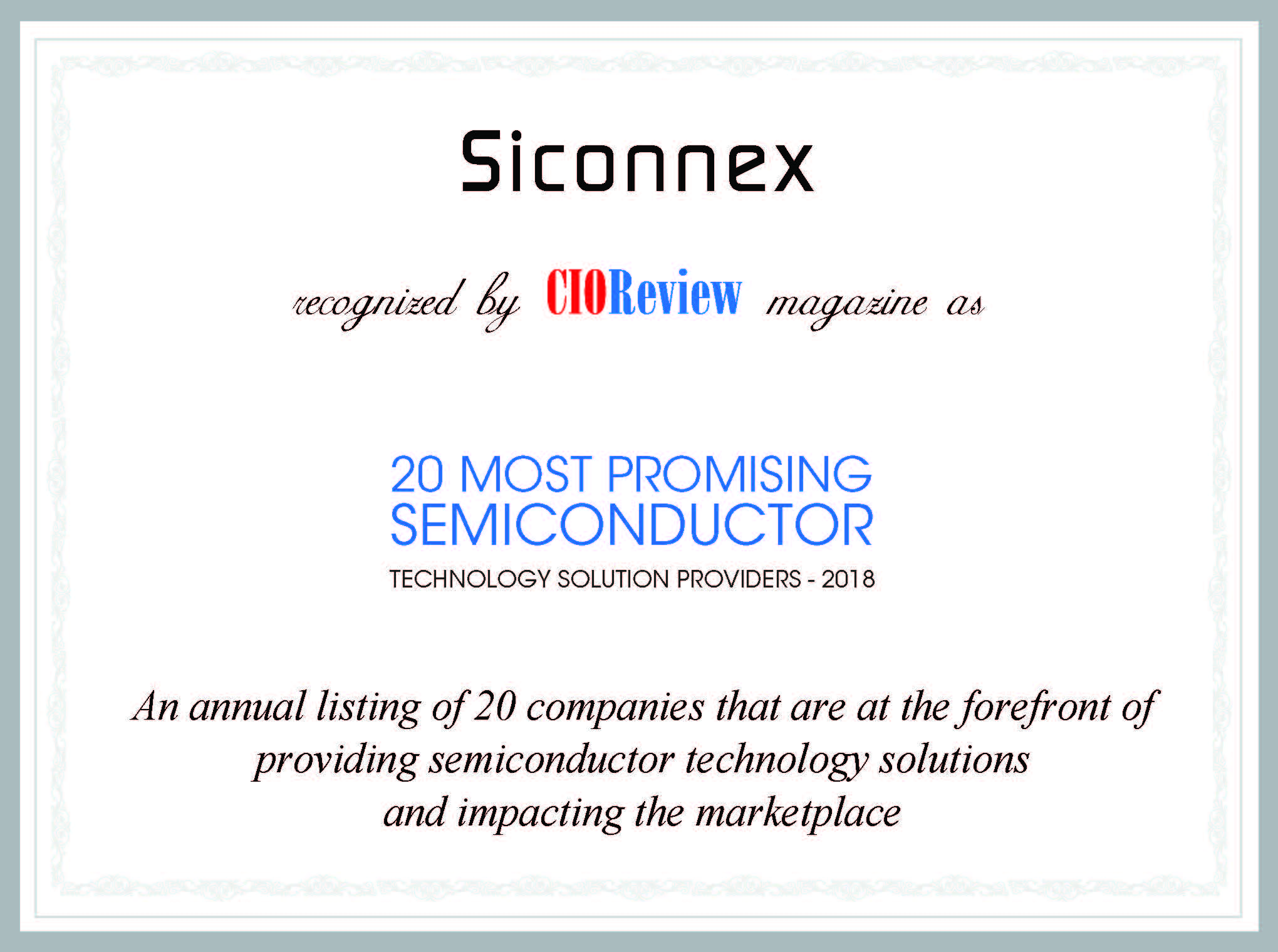 Award for Siconnex